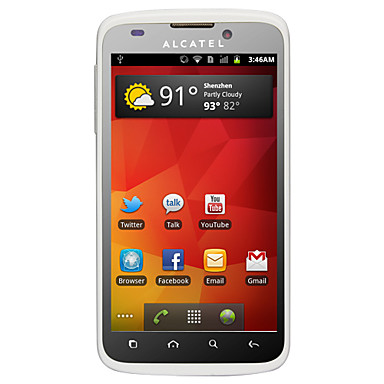 ALCATEL OT995 - 3G Android 2.3 Smartphone with 4.3 Inch IPS Capacitive Touchscreen (Dual Camera, GPS, 1.4GHz)
