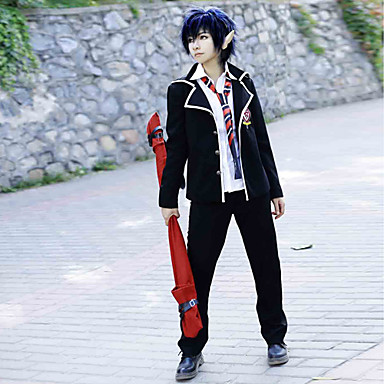 Inspired by Blue Exorcist Rin Okumura Anime Cosplay Costumes Cosplay Suits / School Uniforms Solid Colored Long Sleeve Coat / Shirt / Pants For Men's / Women's