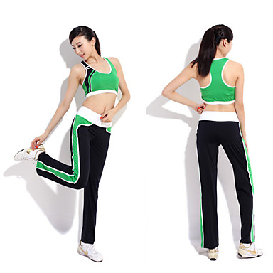 SiBoEn moda feminina Estilos Yoga roupas de fitness Workout se adapte às 2 conjuntos (Vest Yoga sexy + Yoga Pants Drawstring)