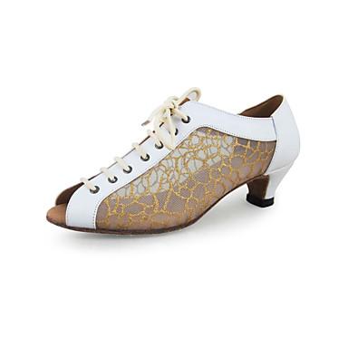 Women's Leatherette / Sparkling Glitter Modern / Ballroom Dance Shoes