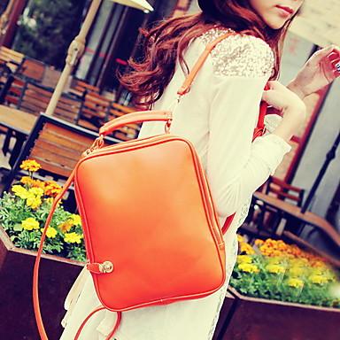 Kadın's Çantalar PU sırt çantası Fermuar için Günlük Tüm Mevsimler Siyah Kırmzı