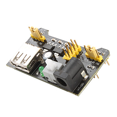 3.3V-5V Power Supply Module für MB102 Breadboard (Black)