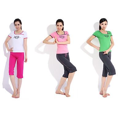 Йога Другое спортивная Костюмы 2 комплекта (Rope Короткие рукава Йога T-Shirt + йога штаны)