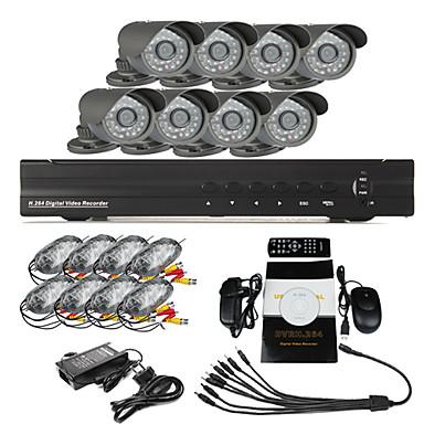8 CH DVR Home Security Surveillance Camera System(8 Outdoor Night Vision camera)