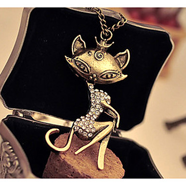 Women's Cat Animal Luxury Casual Birthstones Fashion Other Imitation Diamond Alloy , Special Occasion Birthday Gift