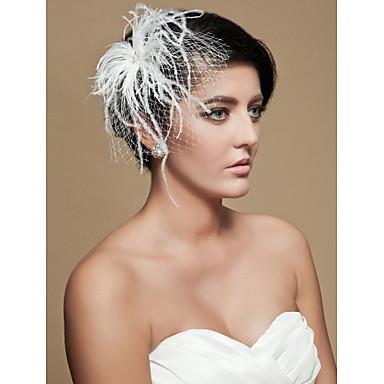 Gorgeous Tulle Imitation Pearl Wedding Bridal Headpiece