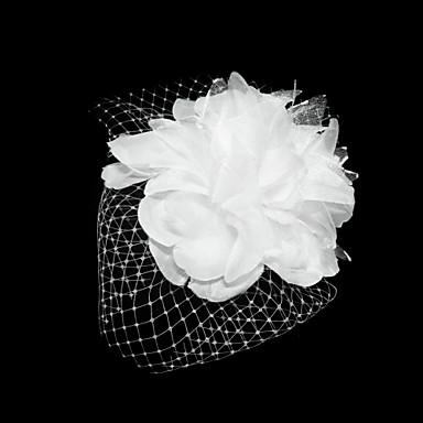Tul Satin Palarioare Flori Veșminte de cap with Floral 1 buc Ocazie specială Diadema