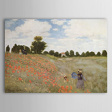 Oil Painting Hand Painted - Famous Landscape Comtemporary Canvas