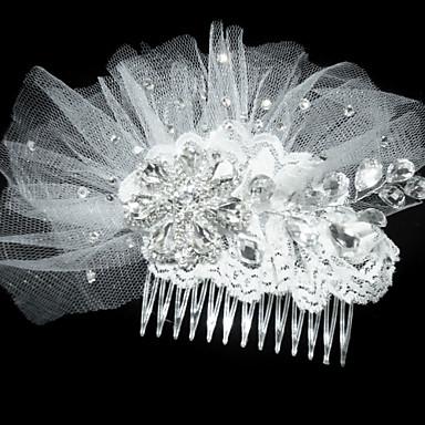 Fashion Net With Rhinestone Women's Fascinators / Hair Combs