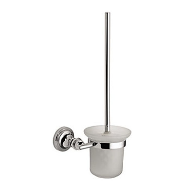 Contemporary Wall Mount Silver Chrome Finish Solid Brass Toothbrush Holder