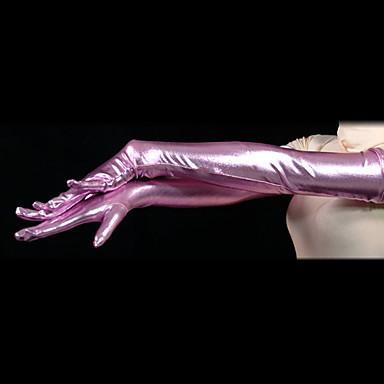 Eldivenler Ninja Zentai Cosplay Kostümleri Pembe Solid Eldivenler Spandex Erkek Kadın's Cadılar Bayramı / Yüksek Elastikiyet