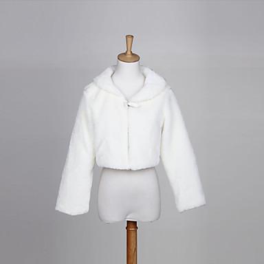 Gut aussehende Kunstfell Wedding / Evening Jacket