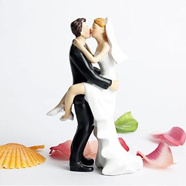 케이크 장식 가든 테마 / 클래식 테마 클래식 커플 레진 결혼식 / 처녀 파티 와 선물 상자