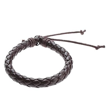 Men's Chain Bracelet Leather Bracelet Unique Design Fashion Leather Fabric Others Jewelry Sports Costume Jewelry Black Brown