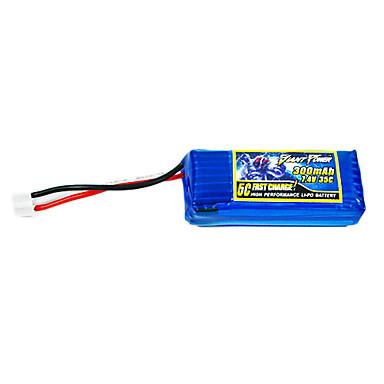 300mAh 7.4V/2S 35C Lipo battery for RC model