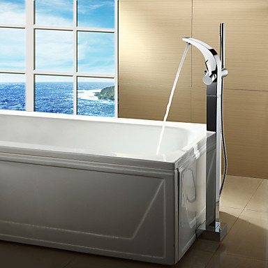 Contemporary  with  Chrome Single Handle One Hole  for Centerset