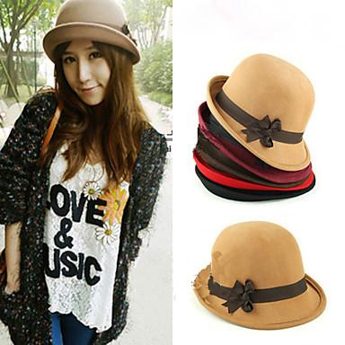 Women's Bow Bowler Hat