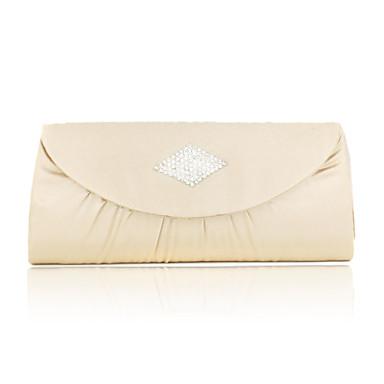 Raso di charme con borsetta da sera cristallo / frizioni (più colori)