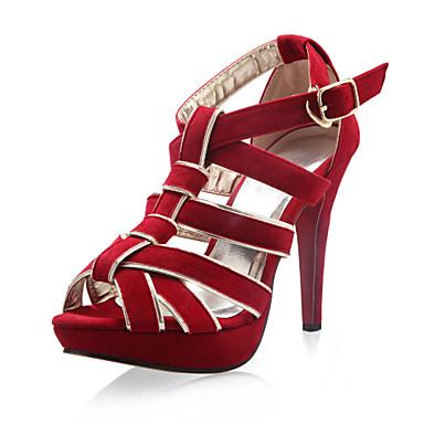 similpelle superiore grosso sandali heelgladiator partito scarpe (1.180-1312198016) più colori disponibili