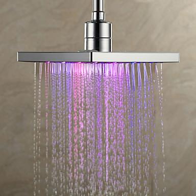 Moderne Douche pluie Chrome Fonctionnalité - Effet pluie LED, Pomme de douche