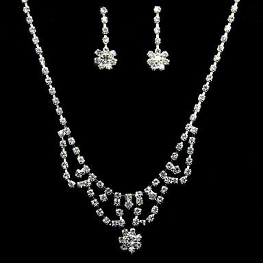 Set bijuterii Pentru femei Aniversare / Zi de Naștere / Cadou / Petrecere / Ocazie specială Set Bijuterii Aliaj ȘtrasColiere /