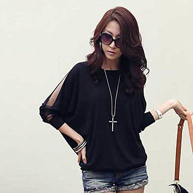 Women's Dolman Sleeve Blouse with Mesh