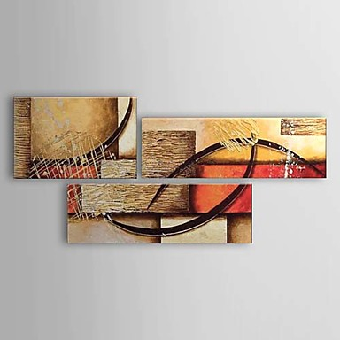 Hang-Ölgemälde Handgemalte - Abstrakt Klassisch Segeltuch