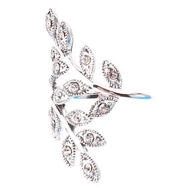 Statement Ring Simuleret diamant Legering Luksus Fødselssten Bryllup Fest Kostume smykker