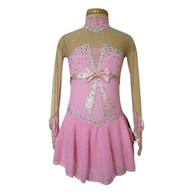 Eiskunstlaufkleid Damen / Mädchen Eislaufen Kleider Elasthan Strass / Schleife / Paillette Hochelastisch Leistung / Training