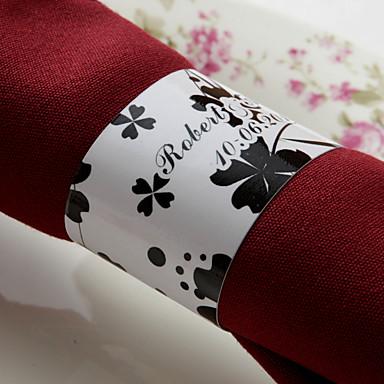 Düğün Peçeteler - 50pcs Peçete Yüzükleri Düğün Yıldönümü Doğumgünü Nişan Partisi Çeyiz Görme Gençlik Partisi Çiçek Teması