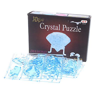 3D Puzzles Crystal Puzzles Toys Diamond Glow Lighting ABS 41 Pieces