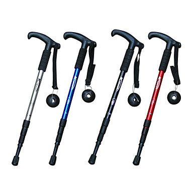 4 Walking Poles Trekking Poles Hiking pole 110cm (43 Inches) Adjustable Length Anti-Shock Aluminum Alloy Hiking Multifunction