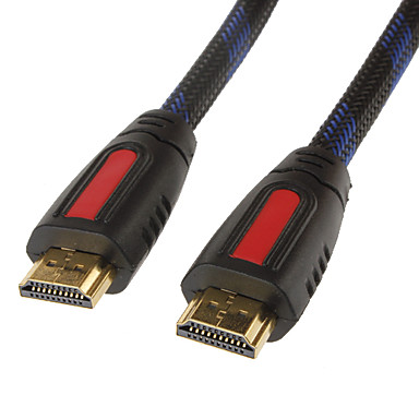 HDMI V1.4 Cable for Smart LED HDTV, APPLE TV, PS3, XBOX360, Blu-ray (0.5 m, Black & Yellow)