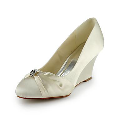 Raso Zeppa Zeppa con scarpe da sposa strass (altri colori)