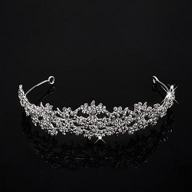 Alloy With Cubic Zirconia Wedding Tiara