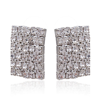 Rhinestones With Silver/Alloy Plating Bridal Earrings