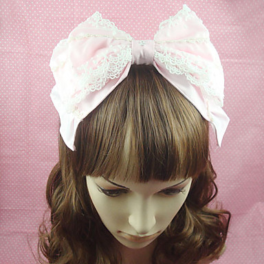Lolita Jewelry Sweet Lolita Dress Headwear Princess Women's Pink Lolita Accessories Solid Bowknot Headpiece Cotton