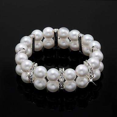 perla de imitación de las señoras / hilo de diamantes de imitación en estilo elegante aleación de plata