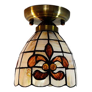40W Taiteellinen Flush Mount Light Tiffany Lasi Shade
