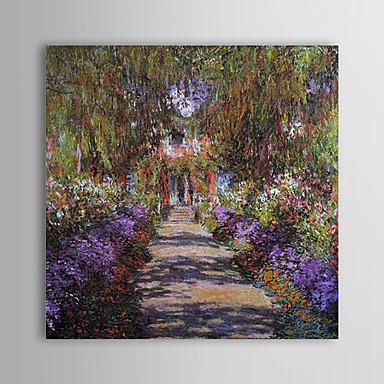 Pintados à mão Famoso Quadrangular,Moderno 1 Painel Tela Pintura a Óleo For Decoração para casa