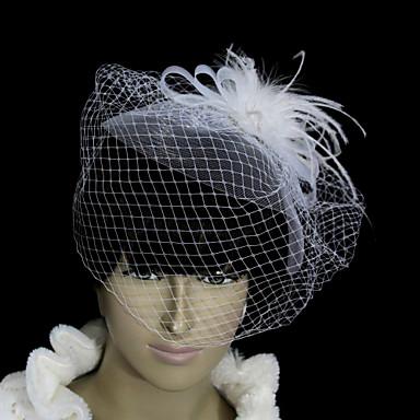 Amazing Flannelette With Net/Tulle Women's Wedding Fascinators