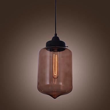 70w lumière moderne pendentif en verre de design de la bouteille transparente