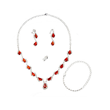Beauty Alloy with acrylic Pearl Women's Jewelry Sets Including Necklace, Earrings, Ring