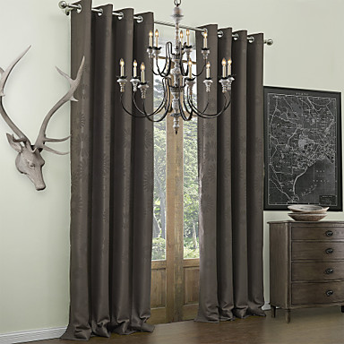 Schlaufen für Gardinenstange Ösen Schlaufen Zweifach gefaltet zwei Panele Window Treatment Neoklassisch, Geprägt Polyester Stoff