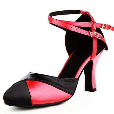 Pentru femei Modern Călcâi Cataramă Toc Personalizat Negru și Roșu Personalizabili