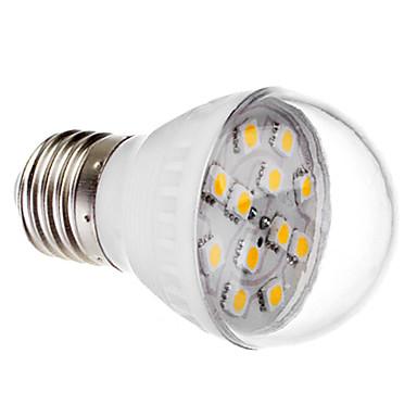 e27 2W 12x5050 SMD 140-170lm 2800-3200k luz branca quente levou bola lâmpada (220v)