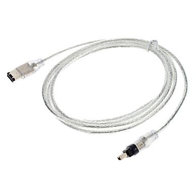 6 Pin til 4 Pin 1394 M / M kabel (1,5 Mb)