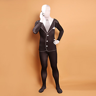 Zentai Dragt Ninja Spandex Heldragt Cosplay Kostumer Ensfarvet Trikot / Heldragtskostumer Zentai Lycra Herre Dame Halloween