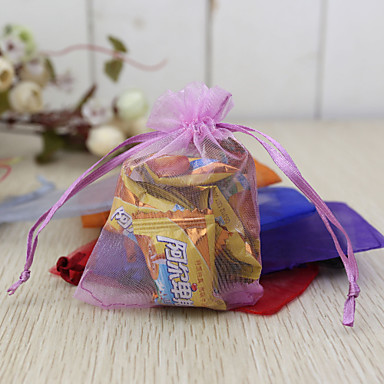 Creative Organza Favor Holder with Pattern Favor Bags - 24