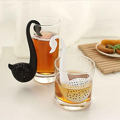 kuğu şekilli çay kaşığı çay süzgeci (rastgele renk) dolap deposu